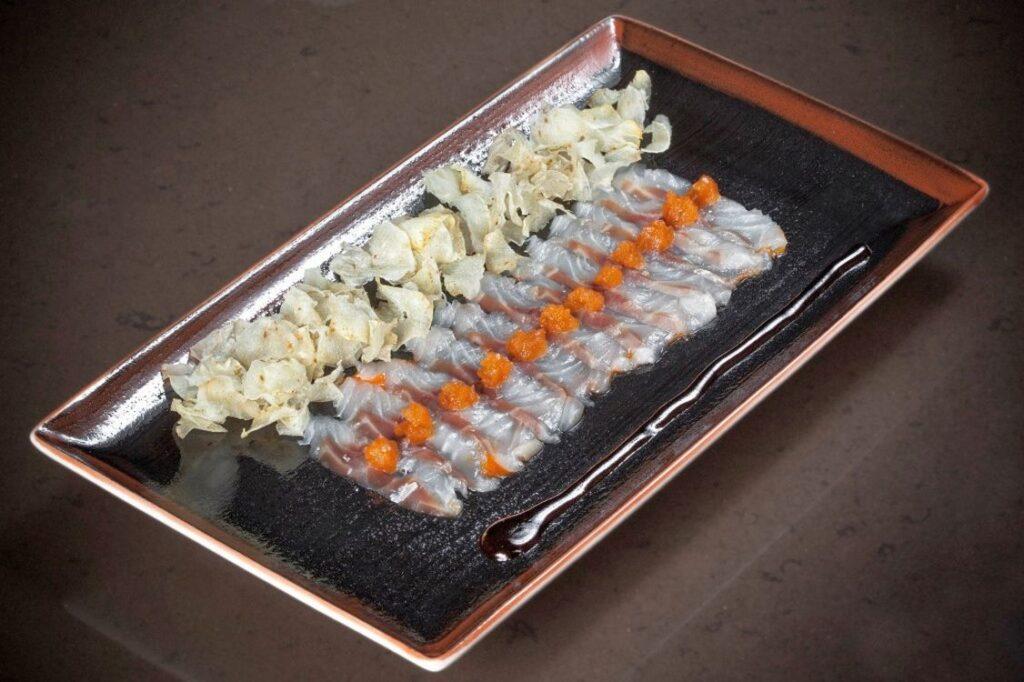 Usuzukuri de Lubina en el 99 Sushi Bar de Ponzano